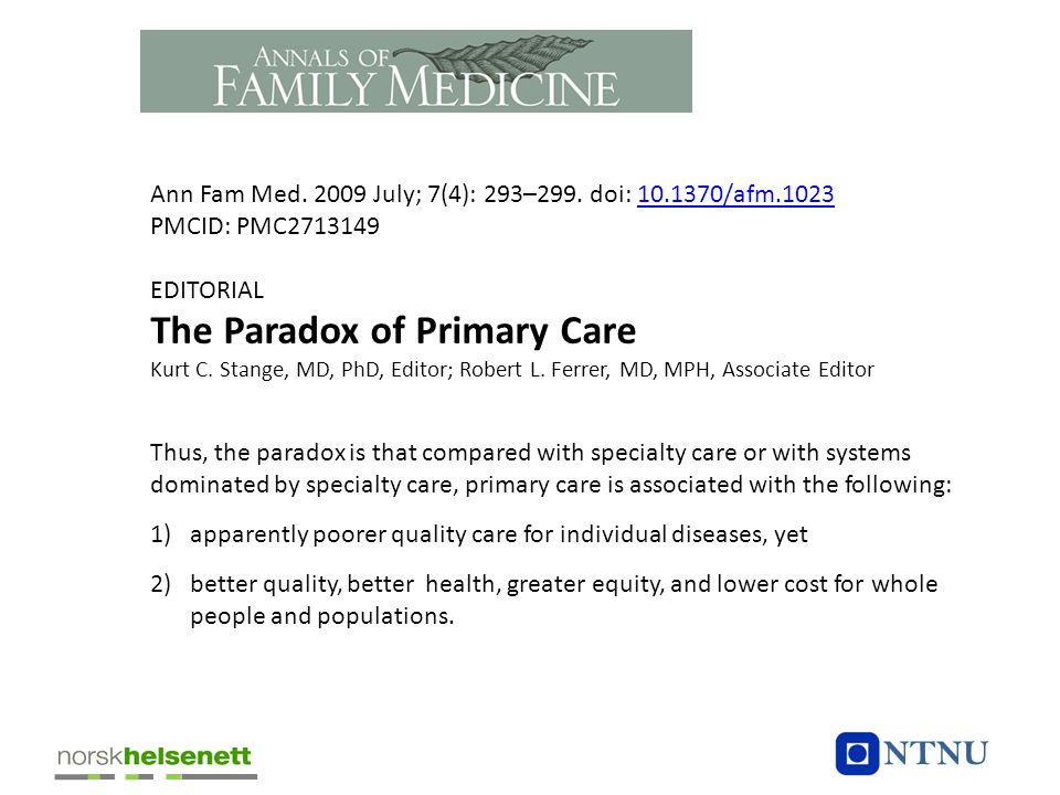 The Paradox of Primary Care