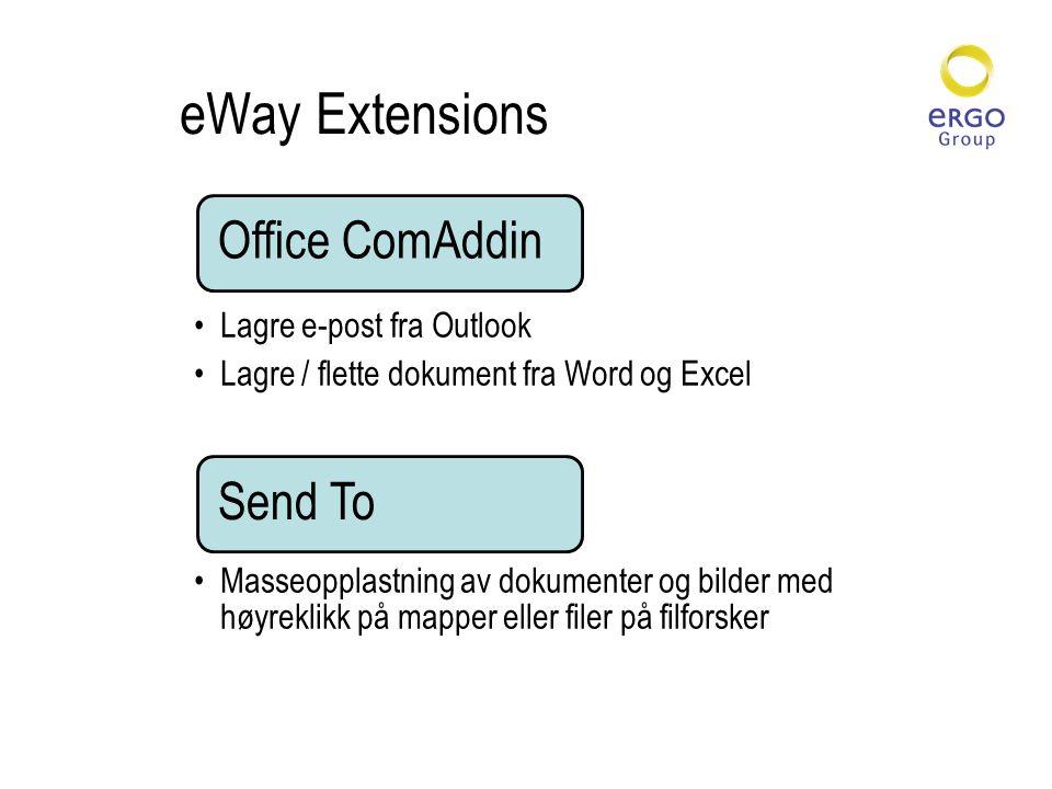 eWay Extensions Lagre e-post fra Outlook
