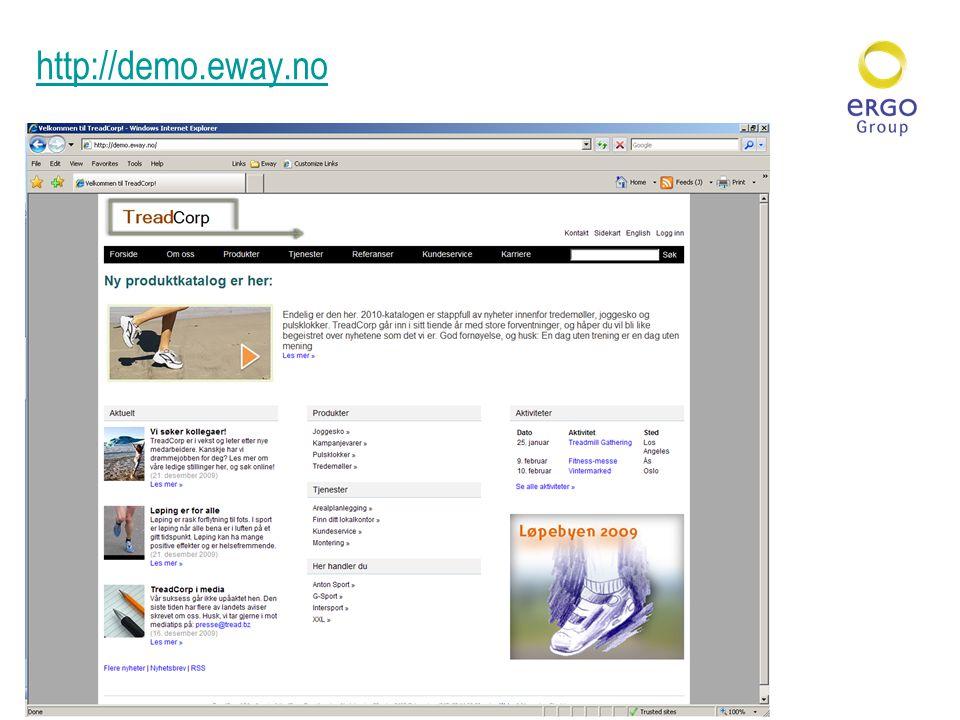 http://demo.eway.no Forside