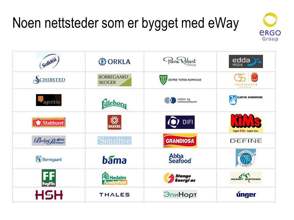 Noen nettsteder som er bygget med eWay