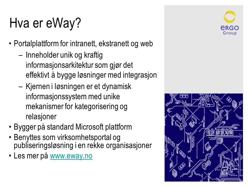 Hva er eWay Portalplattform for intranett, ekstranett og web