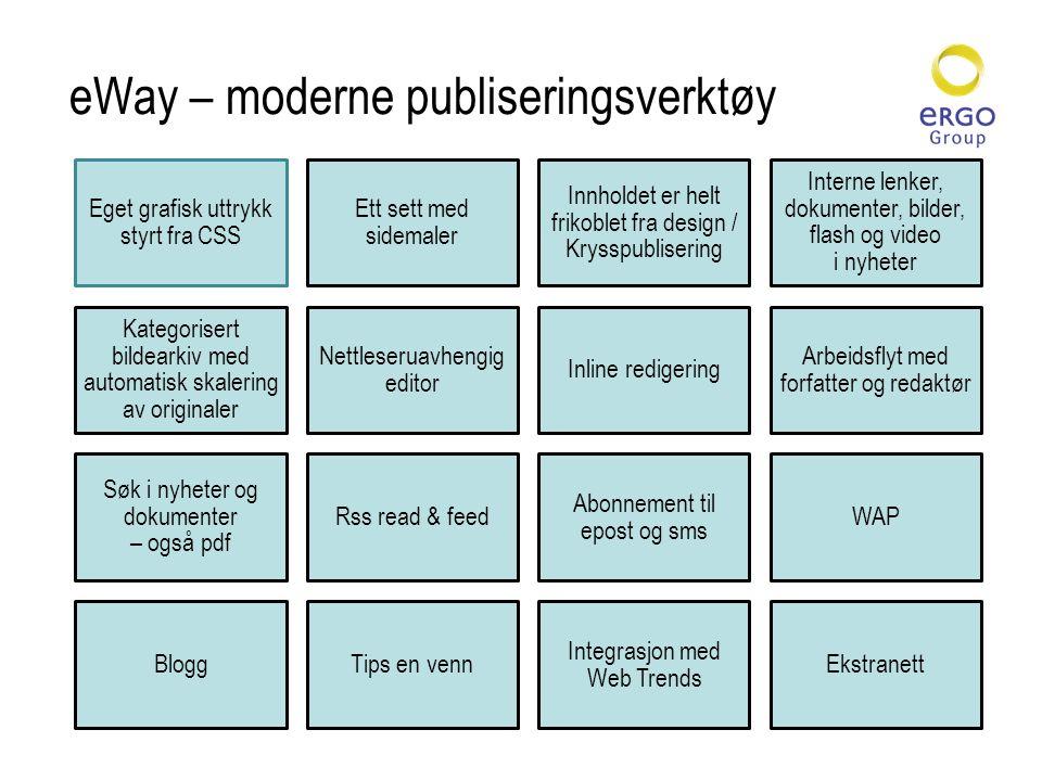 eWay – moderne publiseringsverktøy