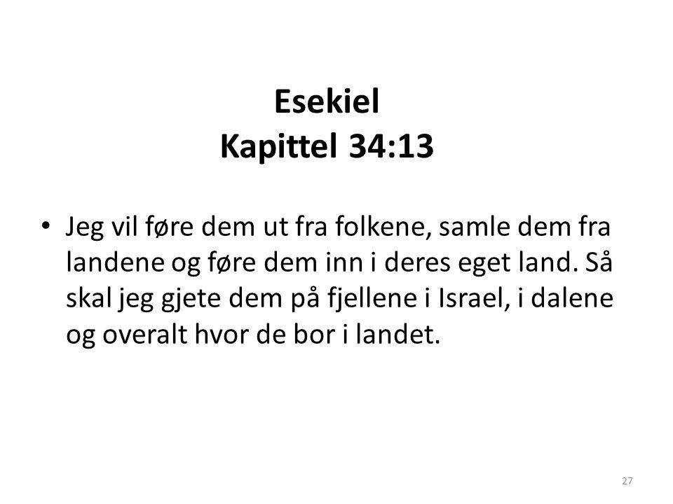 Esekiel Kapittel 34:13