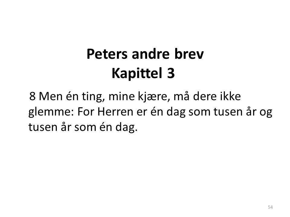 Peters andre brev Kapittel 3