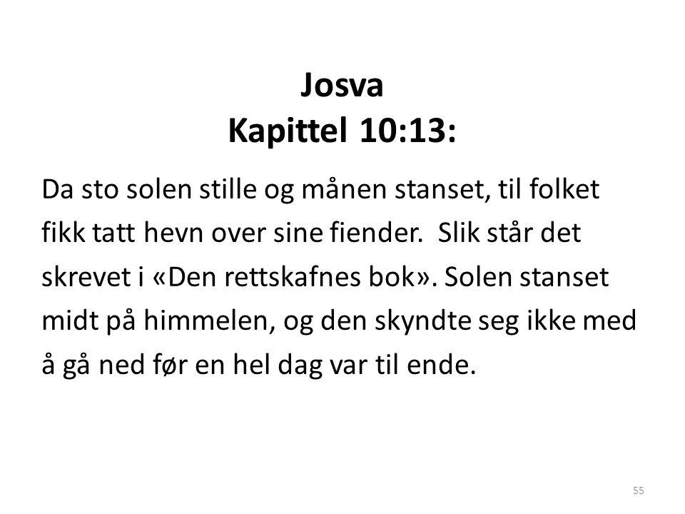 Josva Kapittel 10:13: