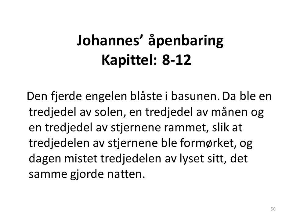 Johannes' åpenbaring Kapittel: 8-12