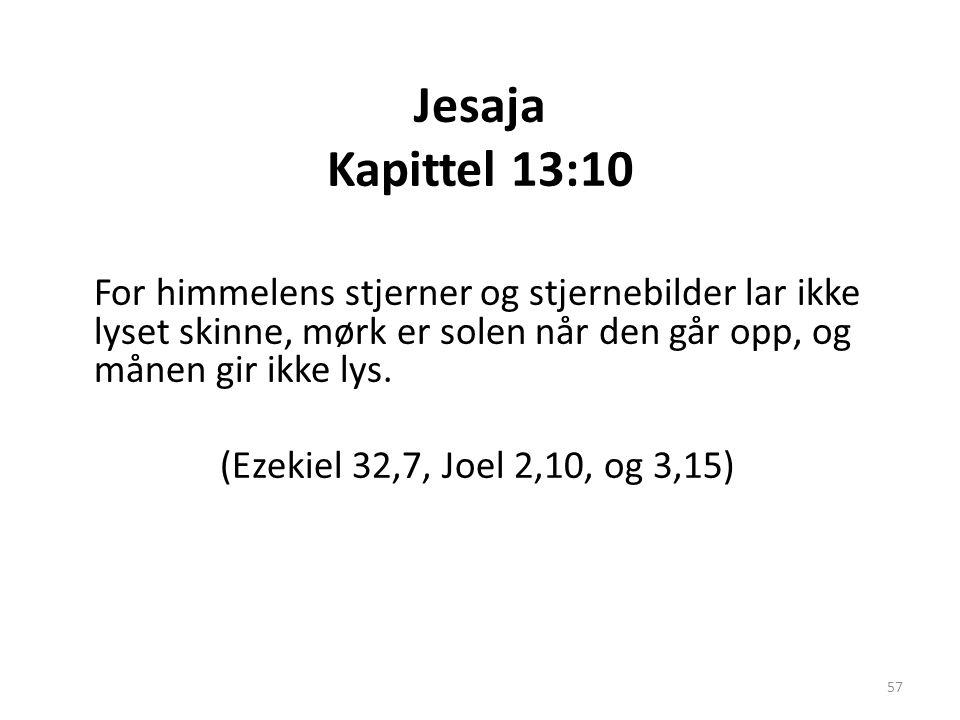 Jesaja Kapittel 13:10