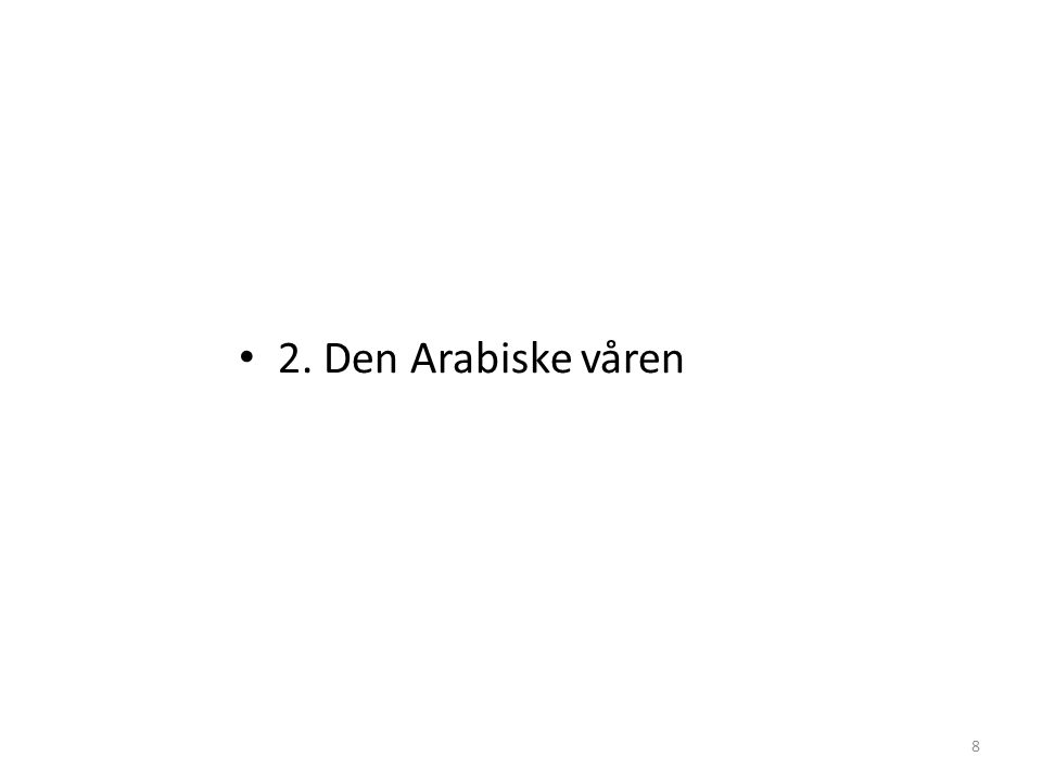 2. Den Arabiske våren