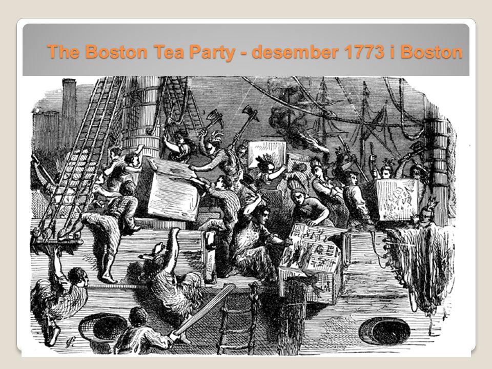 The Boston Tea Party - desember 1773 i Boston