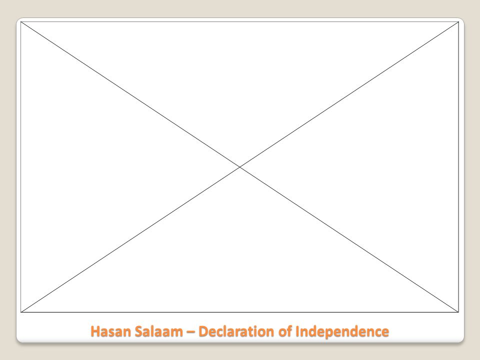 Hasan Salaam – Declaration of Independence