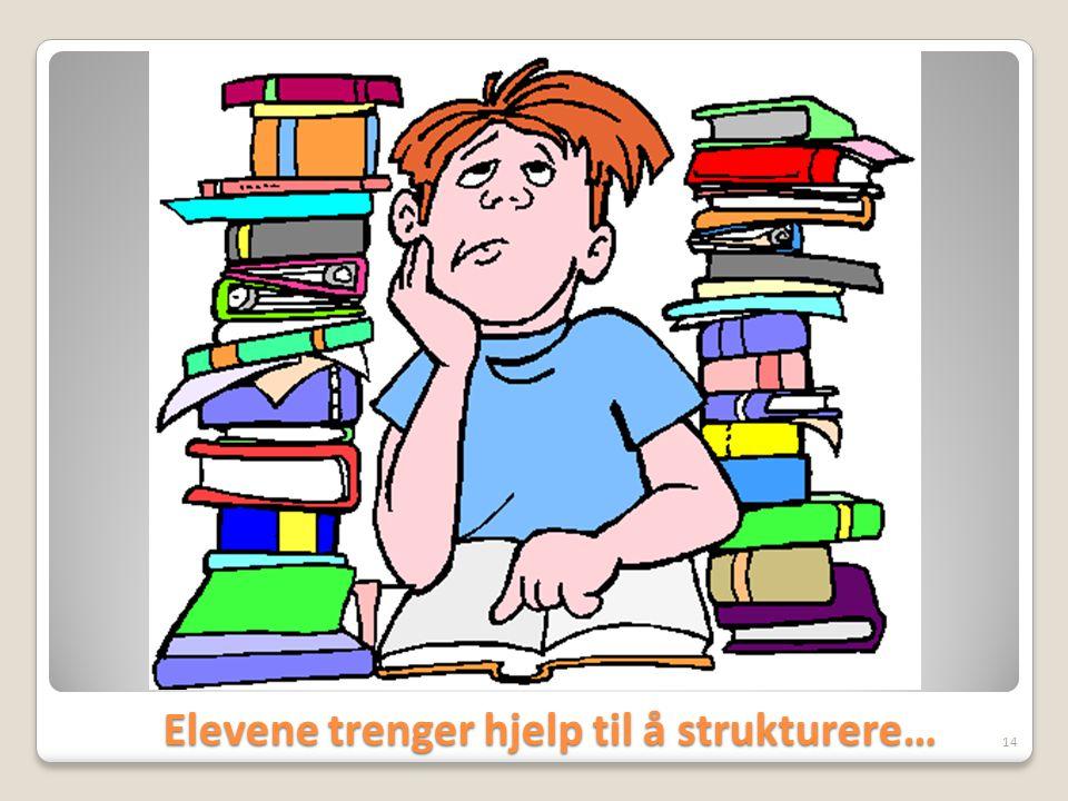 Elevene trenger hjelp til å strukturere…
