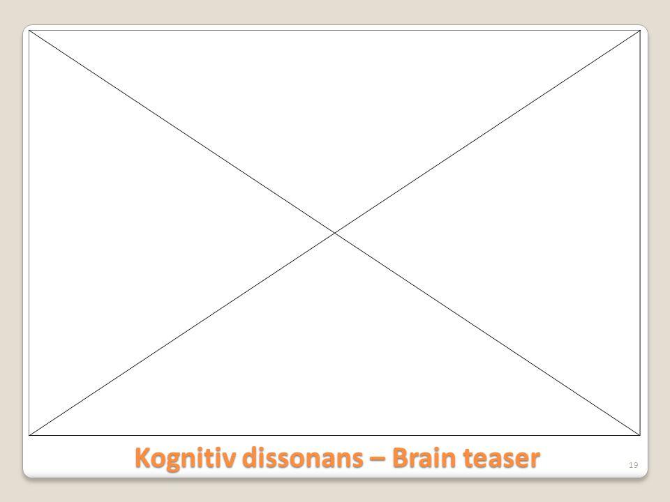 Kognitiv dissonans – Brain teaser
