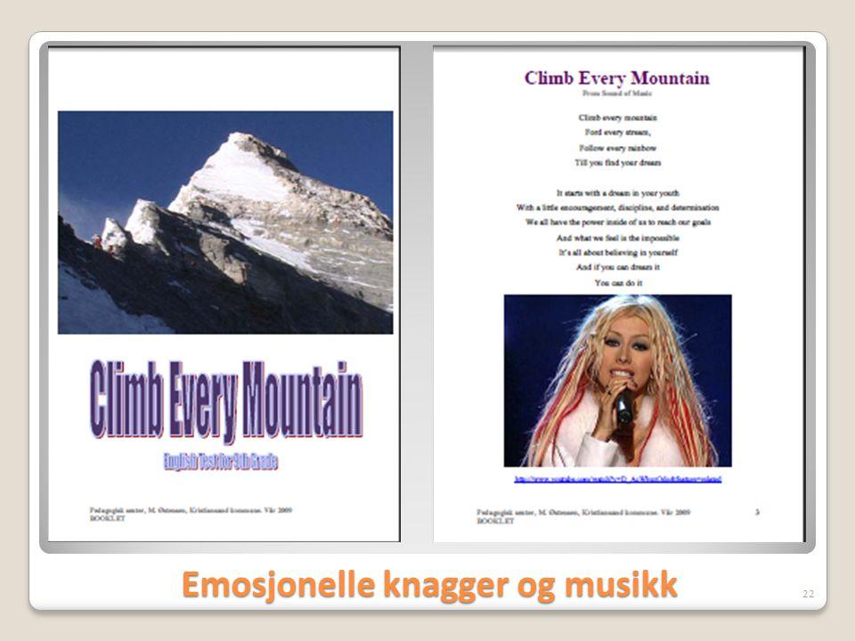 Emosjonelle knagger og musikk