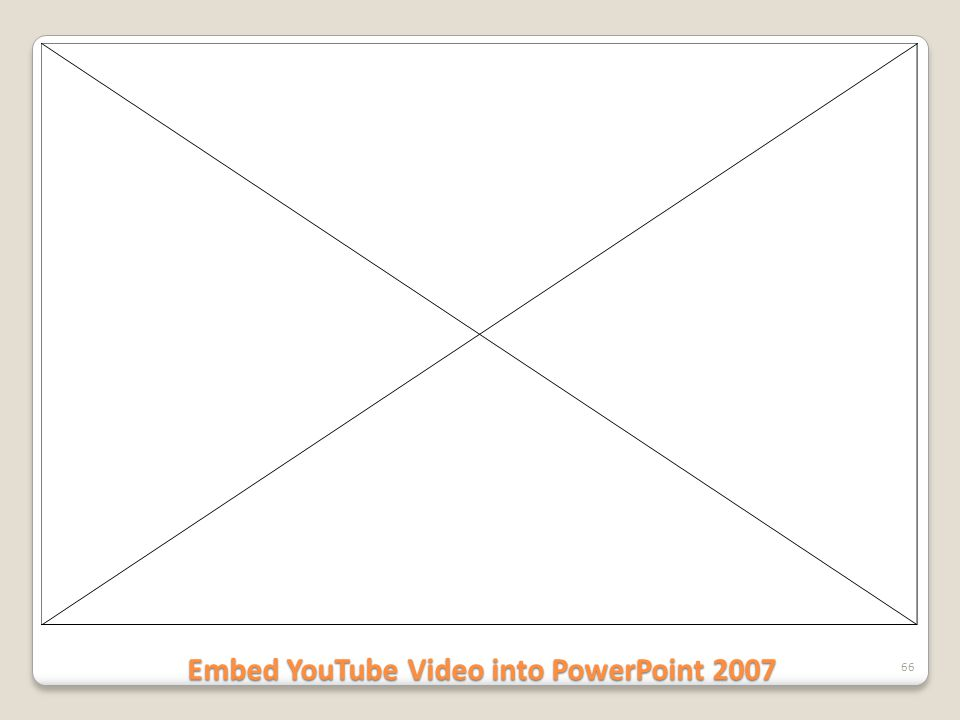 Embed YouTube Video into PowerPoint 2007