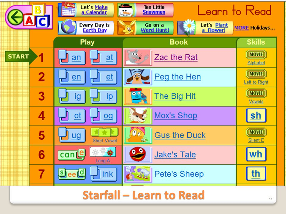 Starfall – Learn to Read