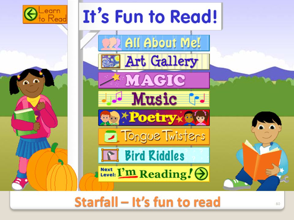 Starfall – It's fun to read