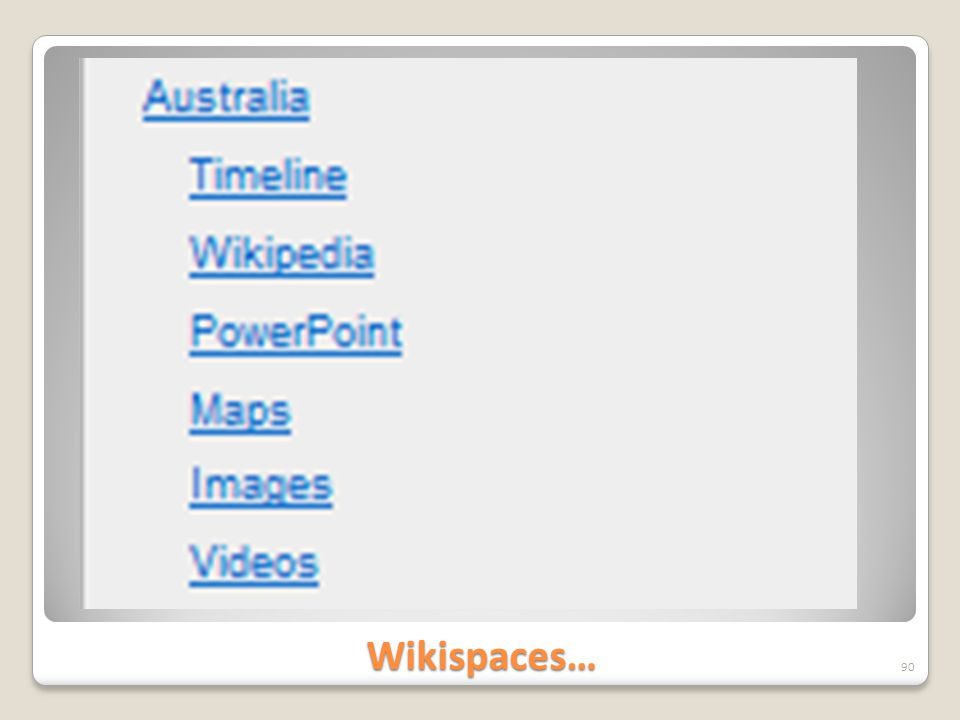 Wikispaces…