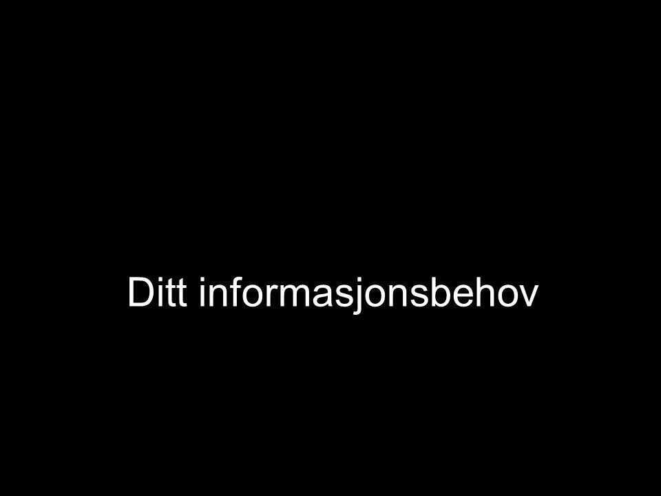 Ditt informasjonsbehov