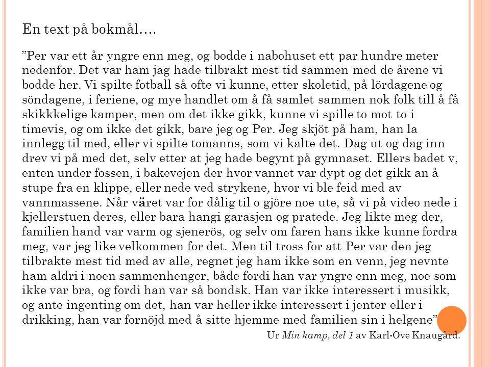 En text på bokmål….