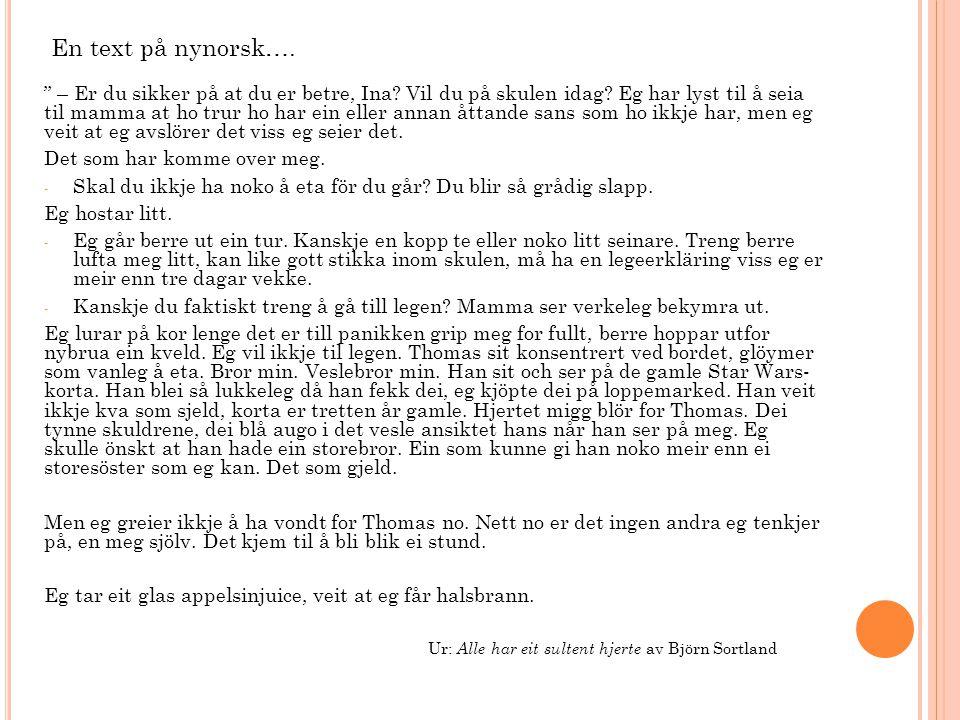 En text på nynorsk….
