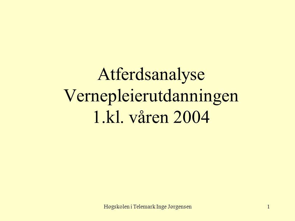 Atferdsanalyse Vernepleierutdanningen 1.kl. våren 2004