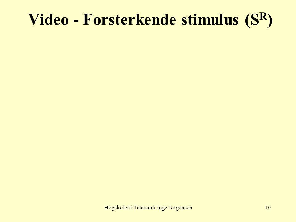 Video - Forsterkende stimulus (SR)