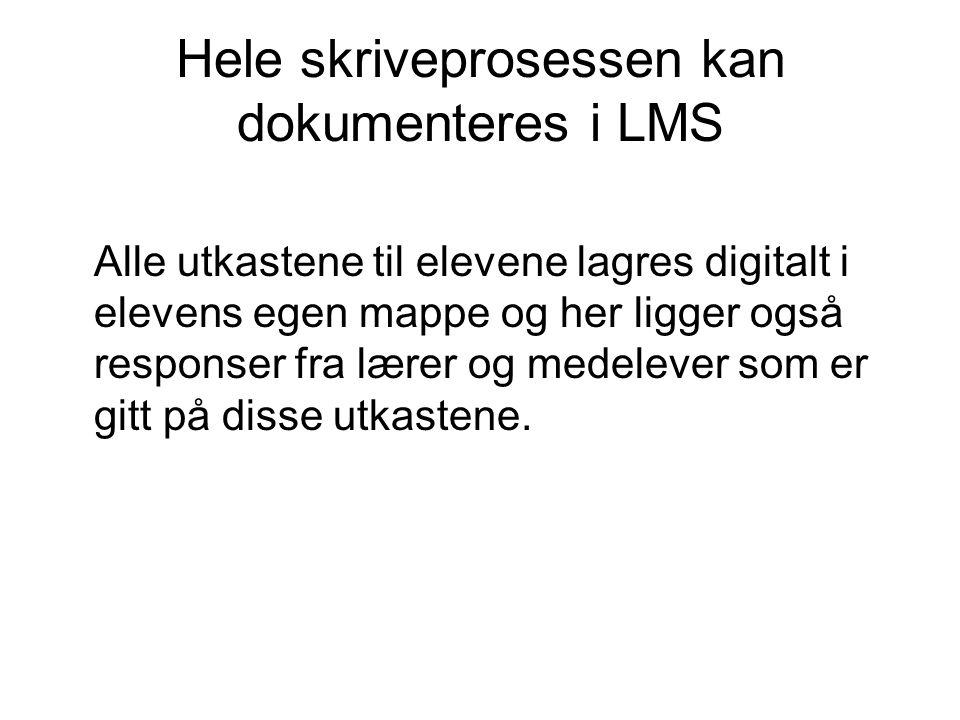 Hele skriveprosessen kan dokumenteres i LMS