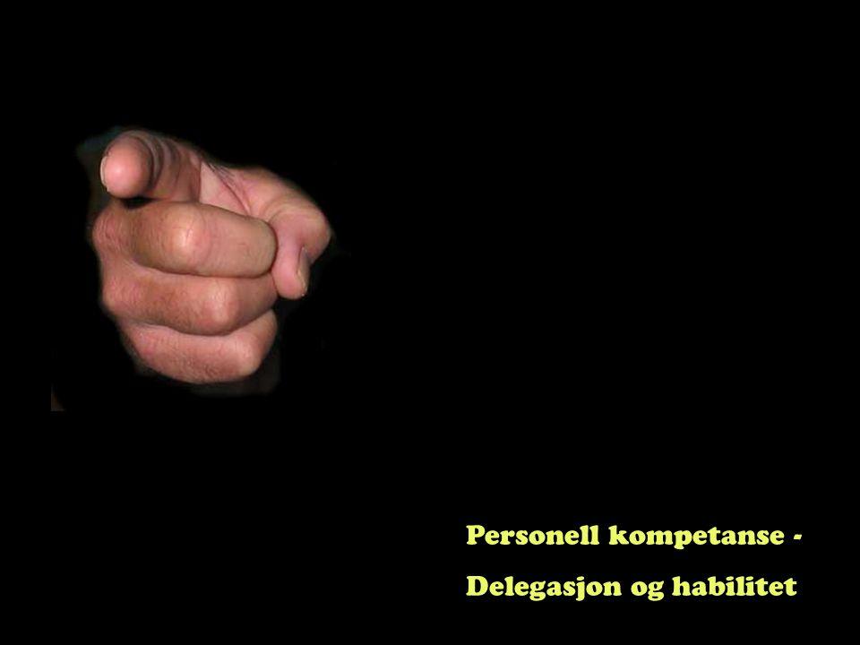 Personell kompetanse -