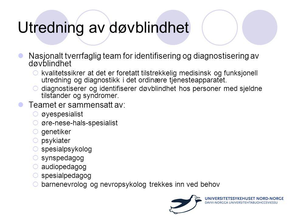 Utredning av døvblindhet