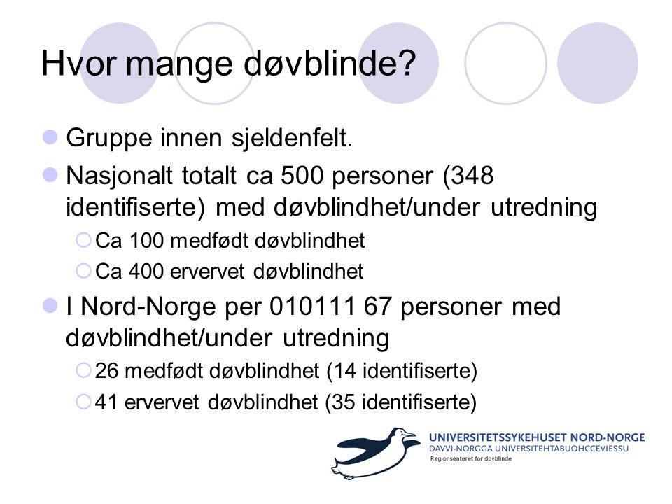 Hvor mange døvblinde Gruppe innen sjeldenfelt.