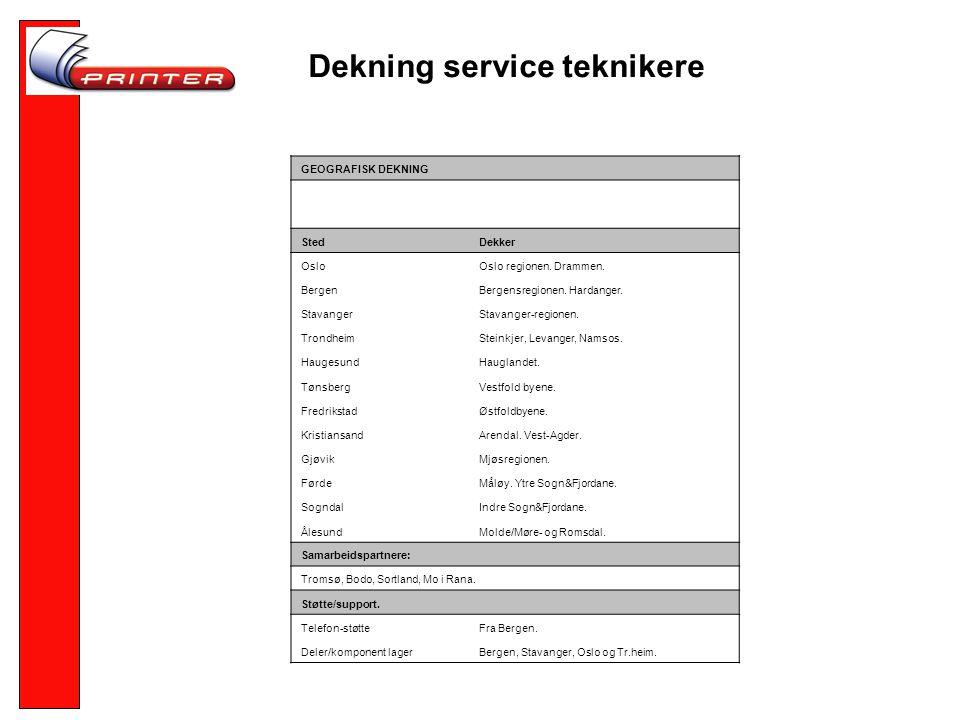 Dekning service teknikere