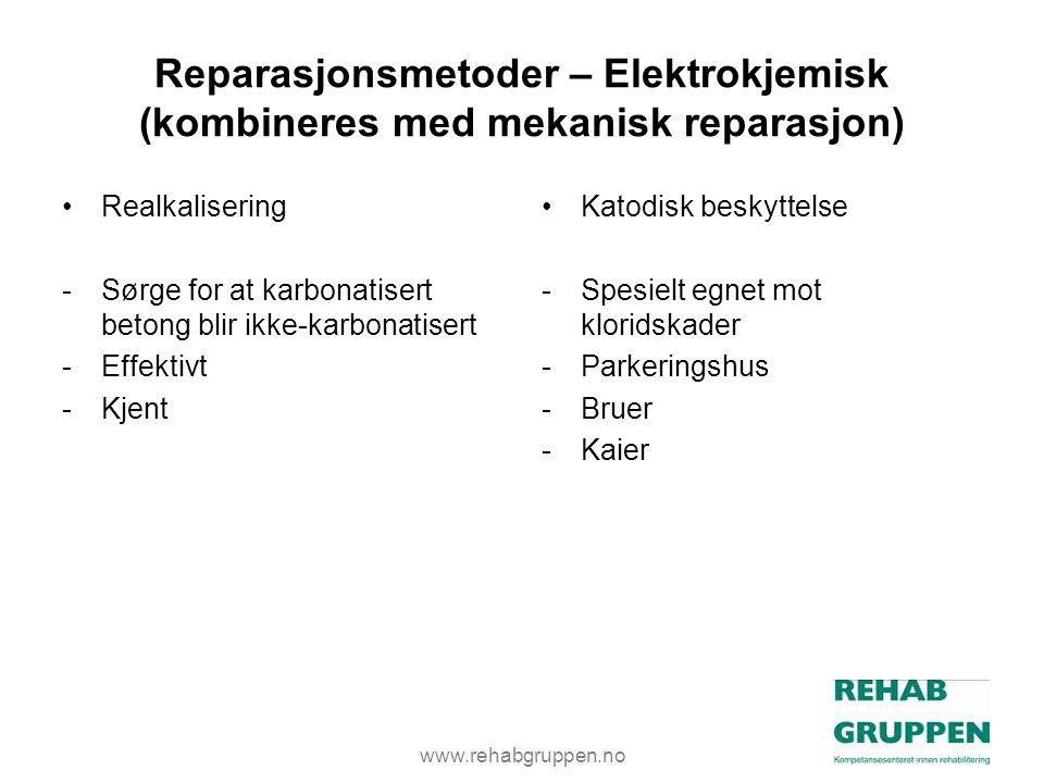 Reparasjonsmetoder – Elektrokjemisk (kombineres med mekanisk reparasjon)