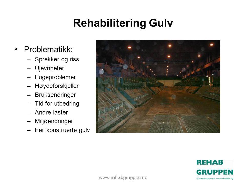 Rehabilitering Gulv Problematikk: Sprekker og riss Ujevnheter