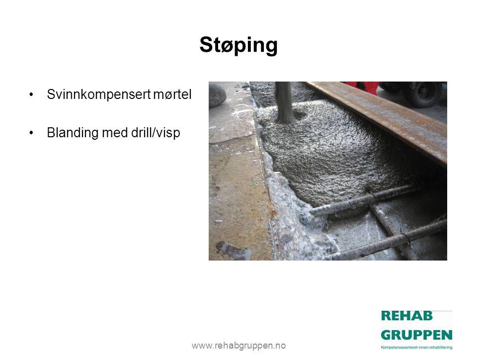 Støping Svinnkompensert mørtel Blanding med drill/visp