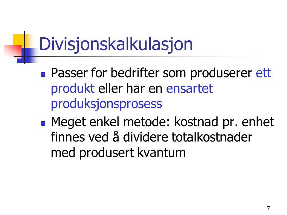Divisjonskalkulasjon