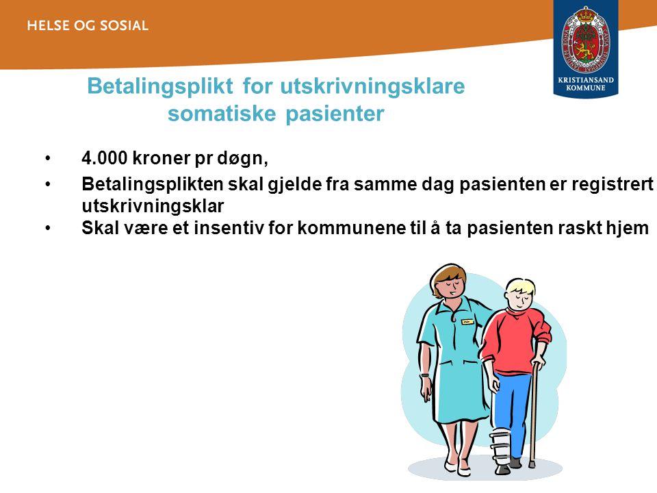 Betalingsplikt for utskrivningsklare somatiske pasienter