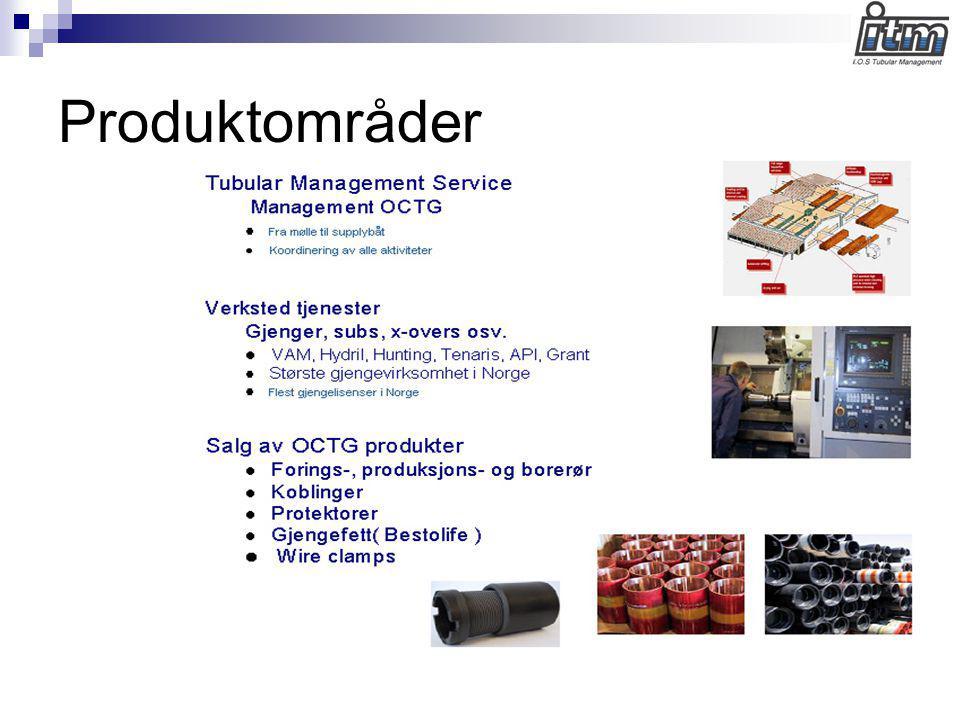 Produktområder