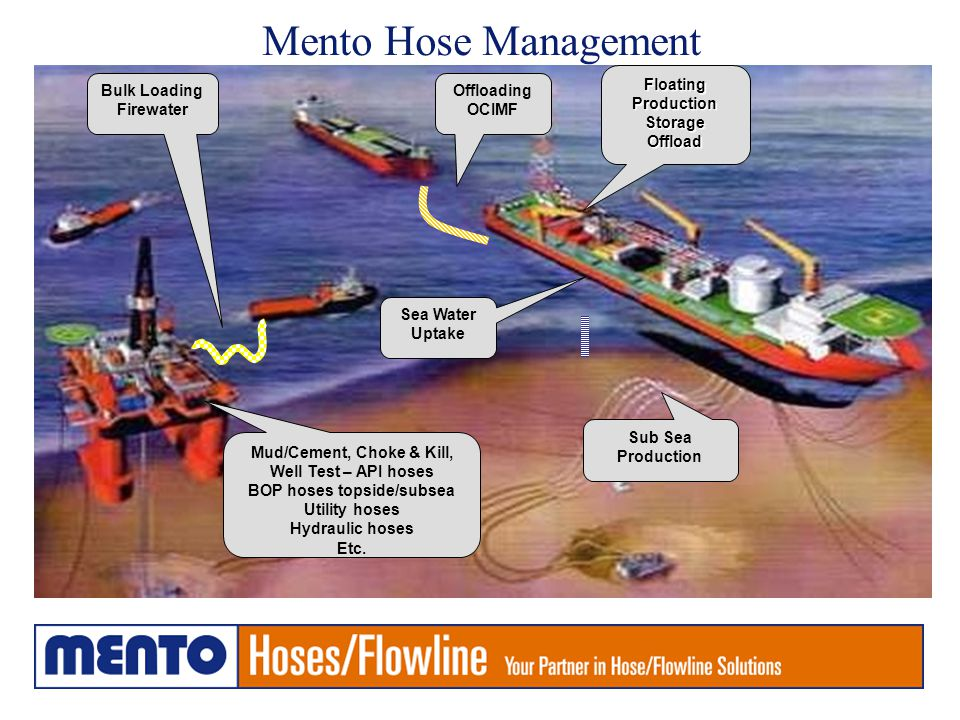 Mento Hose Management Floating Production Storage Offload Bulk Loading