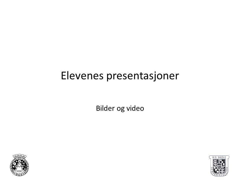 Elevenes presentasjoner
