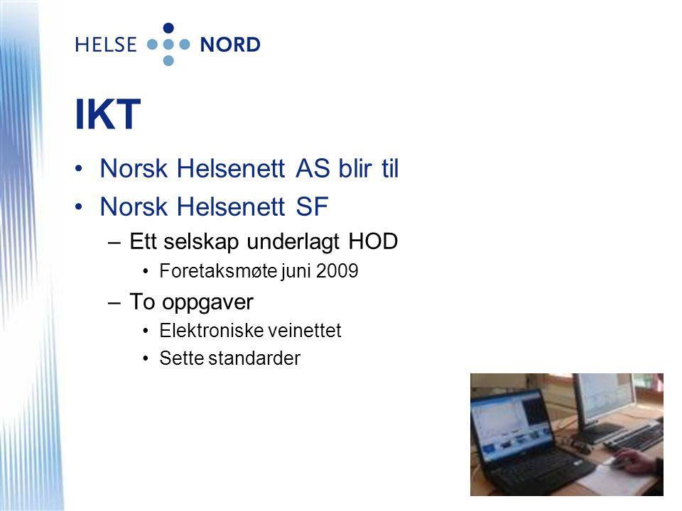 IKT Norsk Helsenett AS blir til Norsk Helsenett SF