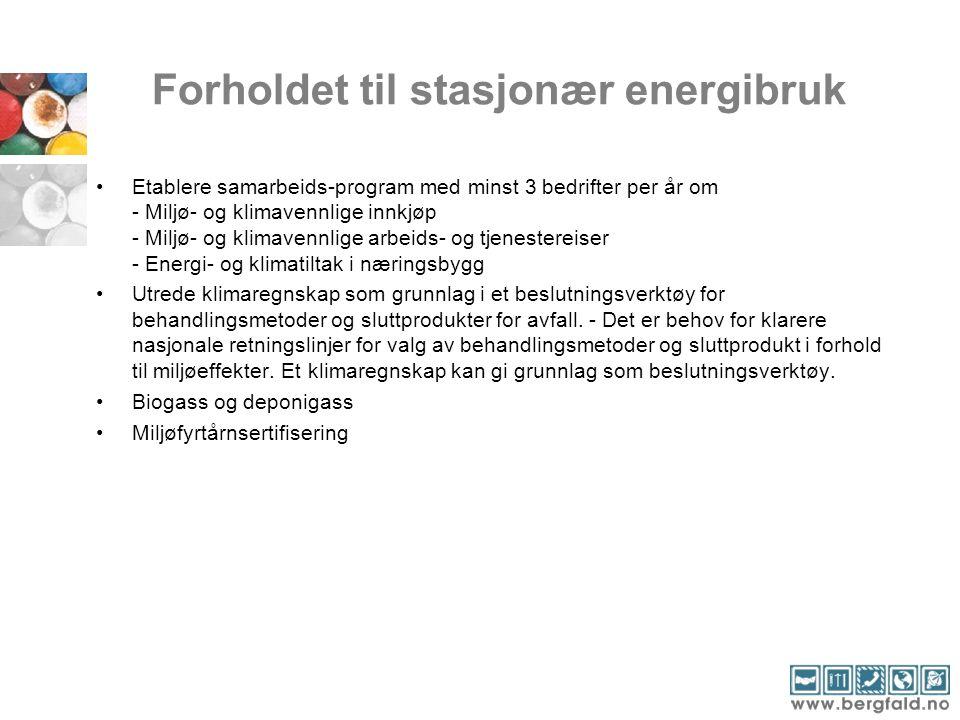 Forholdet til stasjonær energibruk