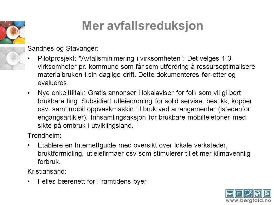 Mer avfallsreduksjon Sandnes og Stavanger: