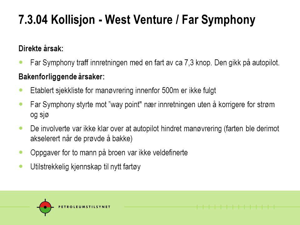 7.3.04 Kollisjon - West Venture / Far Symphony