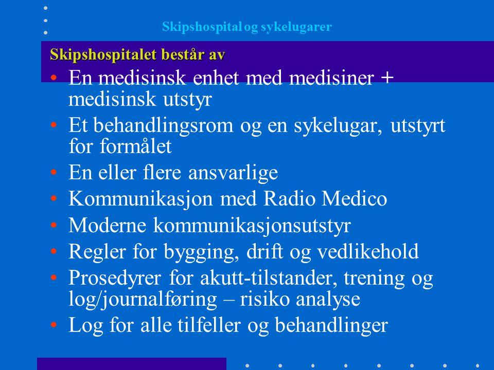 Skipshospital og sykelugarer