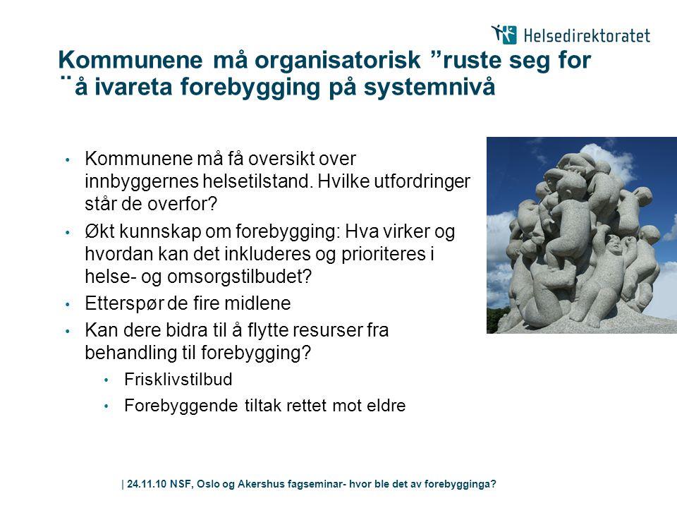 Kommunene må organisatorisk ruste seg for ¨å ivareta forebygging på systemnivå