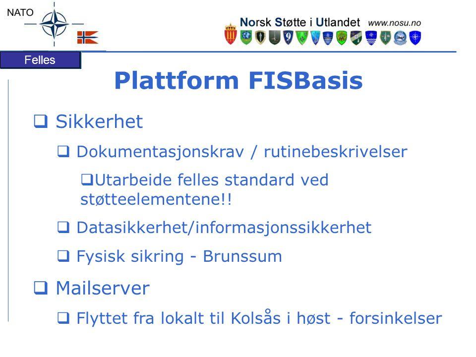 Plattform FISBasis Sikkerhet Mailserver