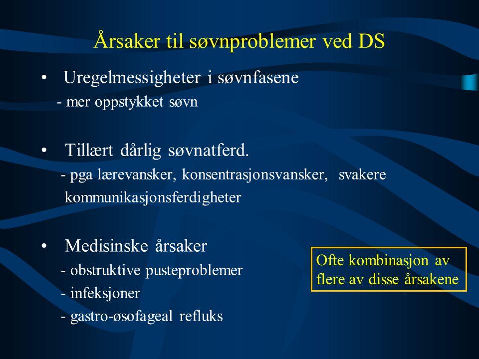 Årsaker til søvnproblemer ved DS