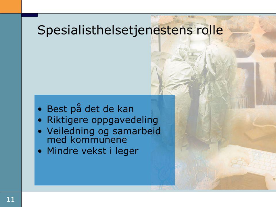 Spesialisthelsetjenestens rolle