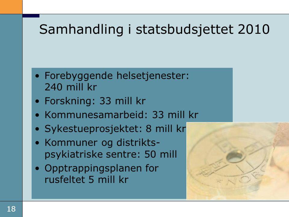 Samhandling i statsbudsjettet 2010