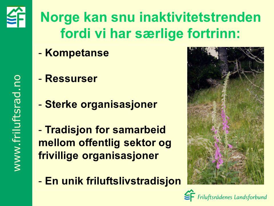 Norge kan snu inaktivitetstrenden fordi vi har særlige fortrinn: